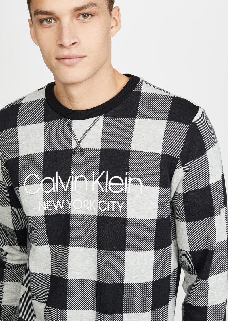 Calvin Klein Underwear Modern Cotton Buffalo Check Sweatshirt
