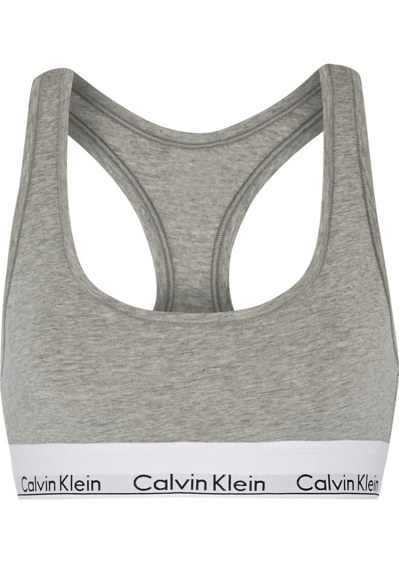 Calvin Klein Modern Cotton Stretch Cotton-blend Soft-cup Bra