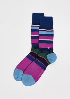 Calvin Klein Underwear Mulit Stripe Logo Socks