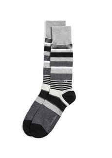 Calvin Klein Underwear Multi Stripe Logo Crew Socks