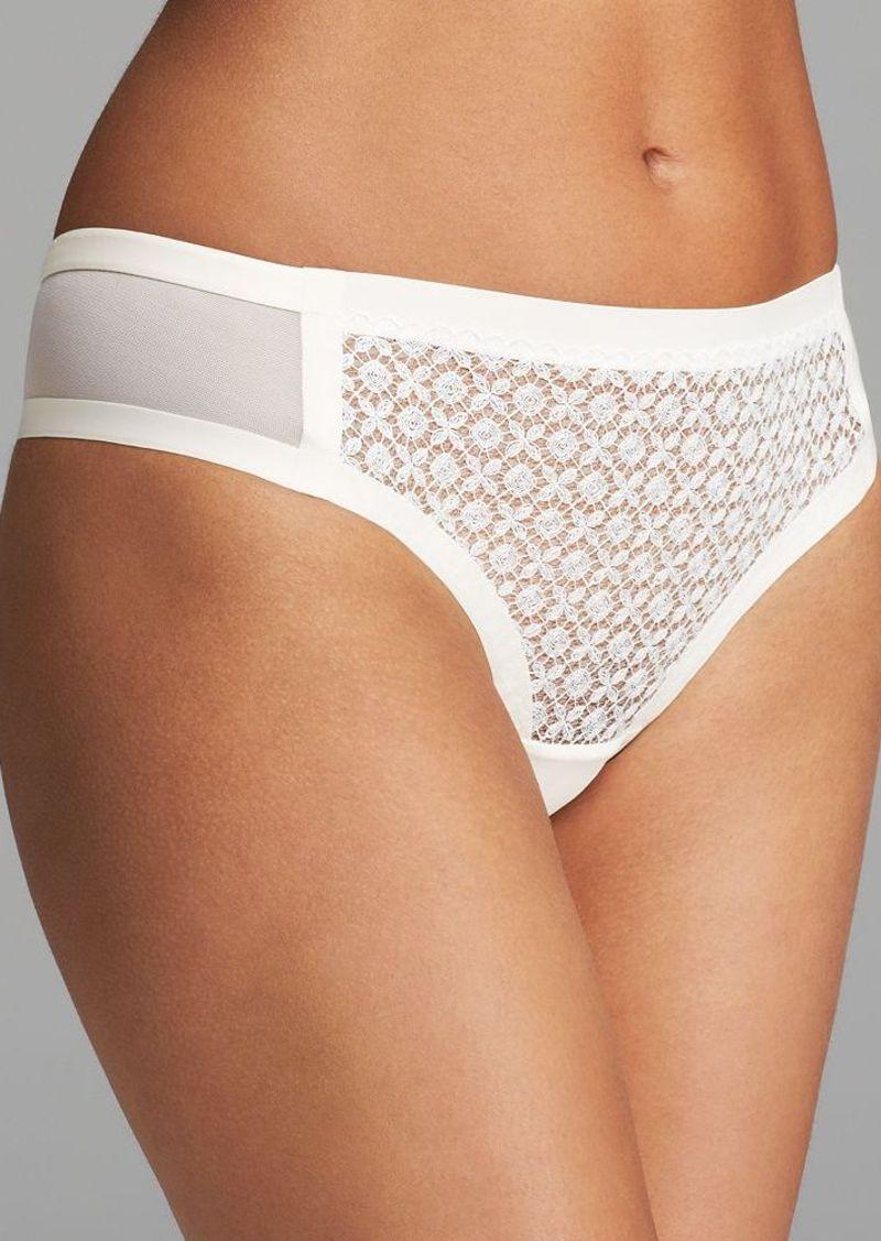 Calvin Klein Underwear Thong - Black Shadow #F3792