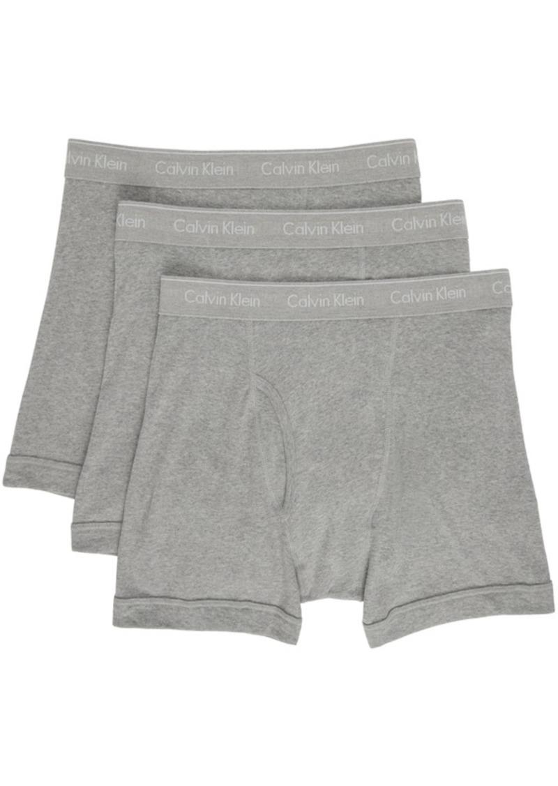 Calvin Klein Underwear Three-Pack Grey Classic Fit Boxer Briefs