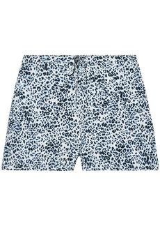 Calvin Klein Underwear Woman Leopard-print Voile Pajama Shorts Cobalt Blue