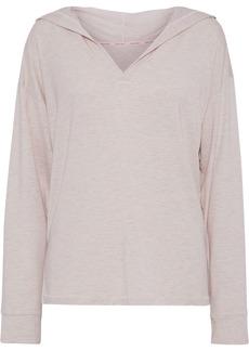 Calvin Klein Underwear Woman Mélange Modal-blend Jersey Hooded Pajama Top Pastel Pink