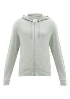 Calvin Klein Underwear Zip-through cotton-blend hooded sweatshirt
