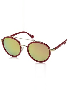 Calvin Klein Unisex Ck1225s Round Sunglasses STRAWBERRY