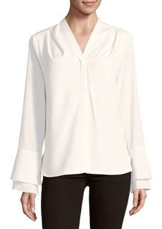 Calvin Klein V-Neck Bell-Sleeve Top