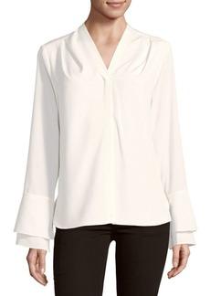 Calvin Klein V-Neck Bell-Sleeve Top