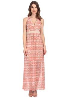 Calvin Klein V-Neck Chiffon Dress
