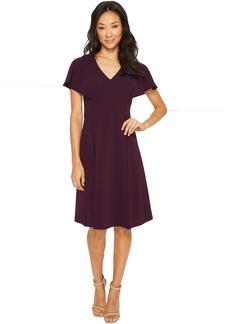 Calvin Klein V-Neck Flutter Sleeve Fit & Flare Dress CD7C146L