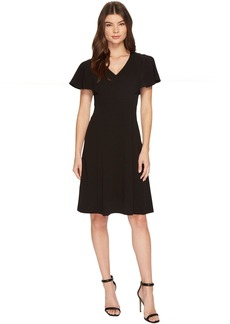 Calvin Klein V-Neck Flutter Sleeve Fit & Flare Dress CD7C146L