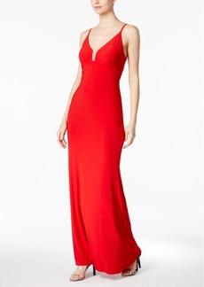 Calvin Klein V-Neck Gown