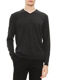 Calvin Klein Regular-Fit Extra-Fine Merino Wool V-Neck Sweater
