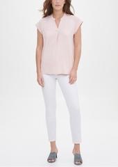 Calvin Klein V-Neck Mixed-Texture Top