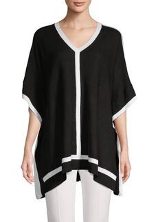 Calvin Klein V-Neck Pullover Poncho
