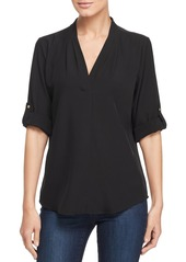 Calvin Klein V-Neck Roll-Sleeve Top