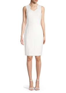 Calvin Klein V-Neck Sheath Dress