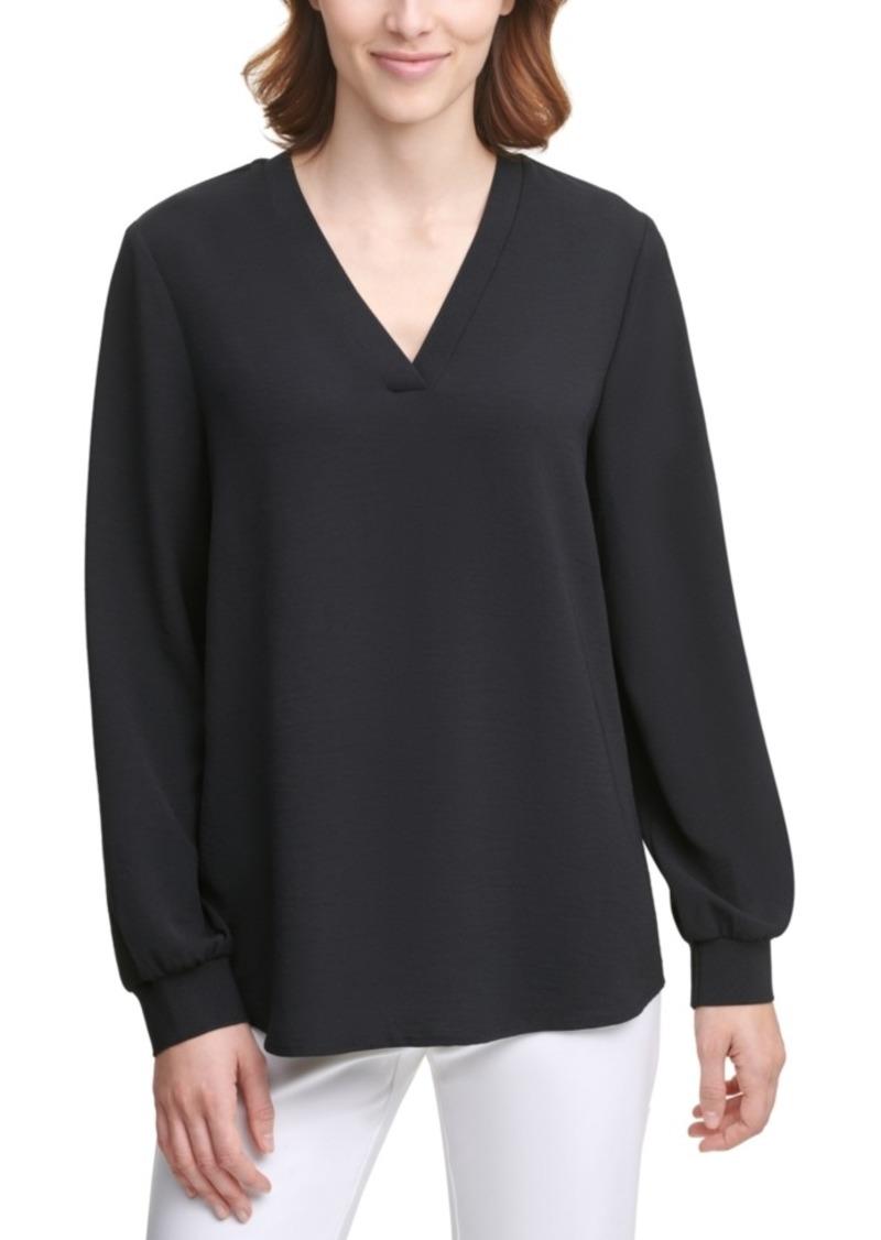 Calvin Klein V-Neck Solid Top