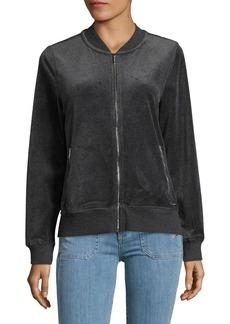 Calvin Klein Velour Bomber Jacket