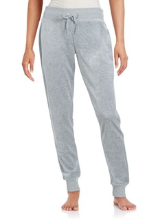 Calvin Klein Velour Cotton Blend Jogger Pants