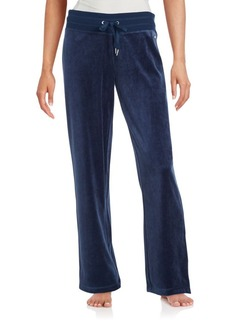 Calvin Klein Velour Cotton Blend Pants