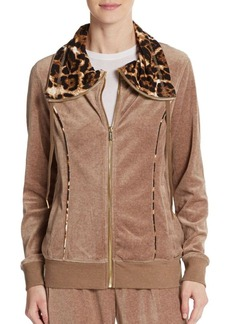 Calvin Klein Velour Drawstring Jacket
