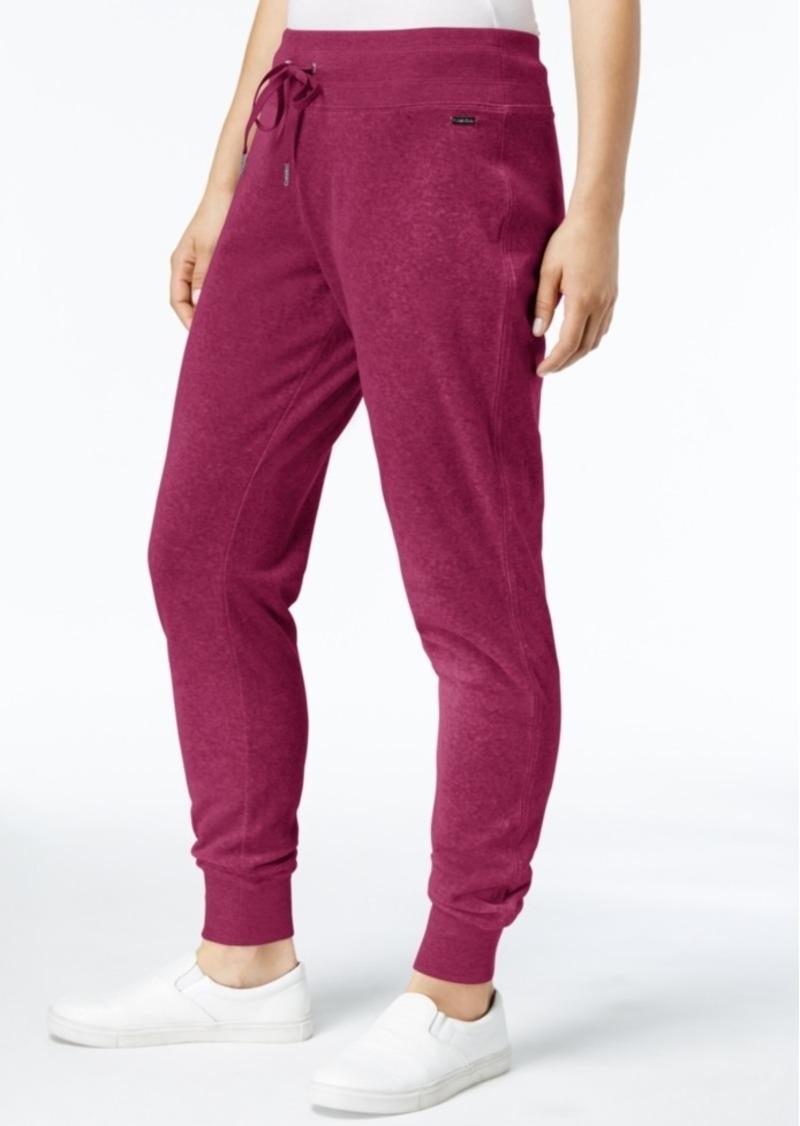 cb32d7a078b Calvin Klein Calvin Klein Velour Drawstring Jogger Pants