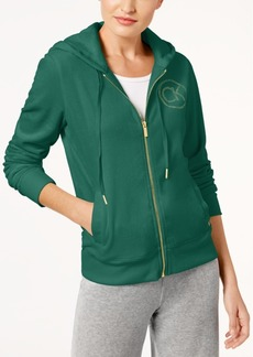 Calvin Klein Velour Logo Hoodie, a Macy's Exclusive Style
