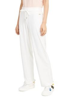 Calvin Klein Velour Wide-Leg Pants