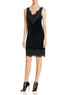 Calvin Klein Velvet & Lace Slip Dress - 100% Bloomingdale's Exclusive