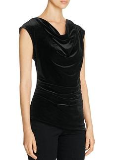 Calvin Klein Velvet Asymmetric Top