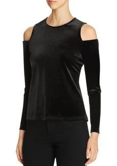 Calvin Klein Velvet Cold Shoulder Top