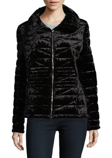Calvin Klein Velvet Quilted Coat