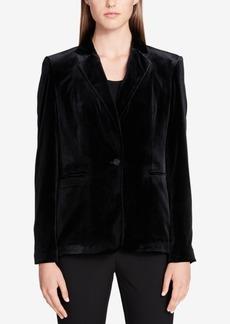 Calvin Klein Velvet Single-Button Blazer
