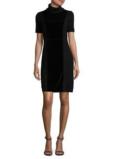 Calvin Klein Velvet Turtleneck Sheath Dress