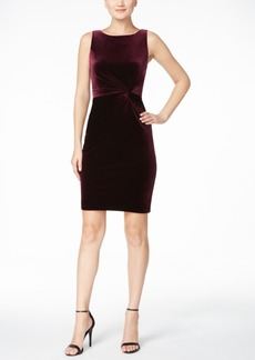Calvin Klein Velvet Twist-Knot V-Back Dress