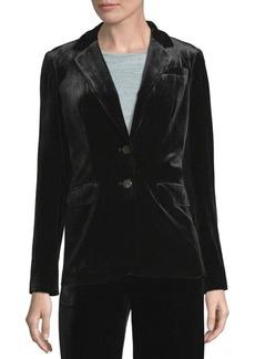 Calvin Klein Velvet Two-Button Jacket