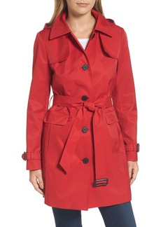Calvin Klein Water Resistant Belted Trench Coat