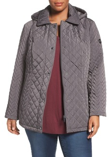 Calvin Klein Water Resistant Diamond Quilted Jacket (Plus Size)