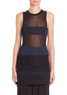 Calvin Klein Weronikas Striped Mesh Shell