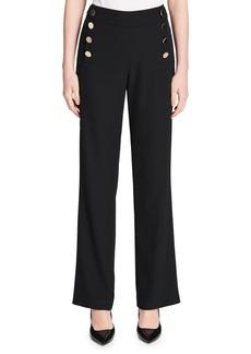 Calvin Klein Wide Leg Buttoned Pants