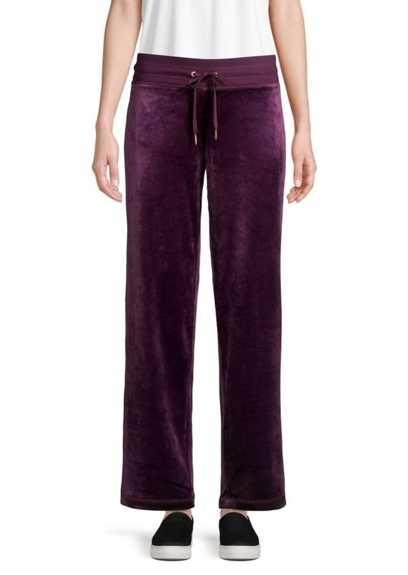 Calvin Klein Wide-Leg Velour Pants