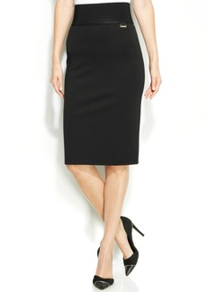 Calvin Klein Wide-Waistband Pencil Skirt