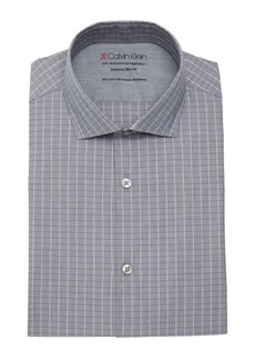 Calvin Klein Windowpane Extra Slim-Fit Dress Shirt