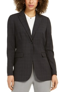 Calvin Klein Windowpane Plaid Jacket
