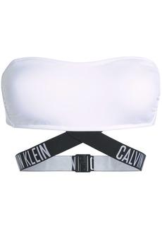Calvin Klein Woman Bandeau Bikini Top White