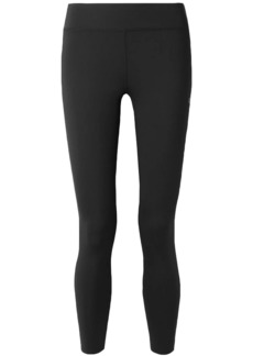 Calvin Klein Woman Cropped Printed Stretch Leggings Black
