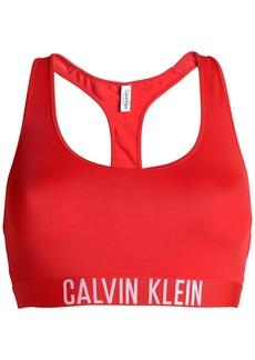 Calvin Klein Woman Jacquard-trimmed Bikini Top Red