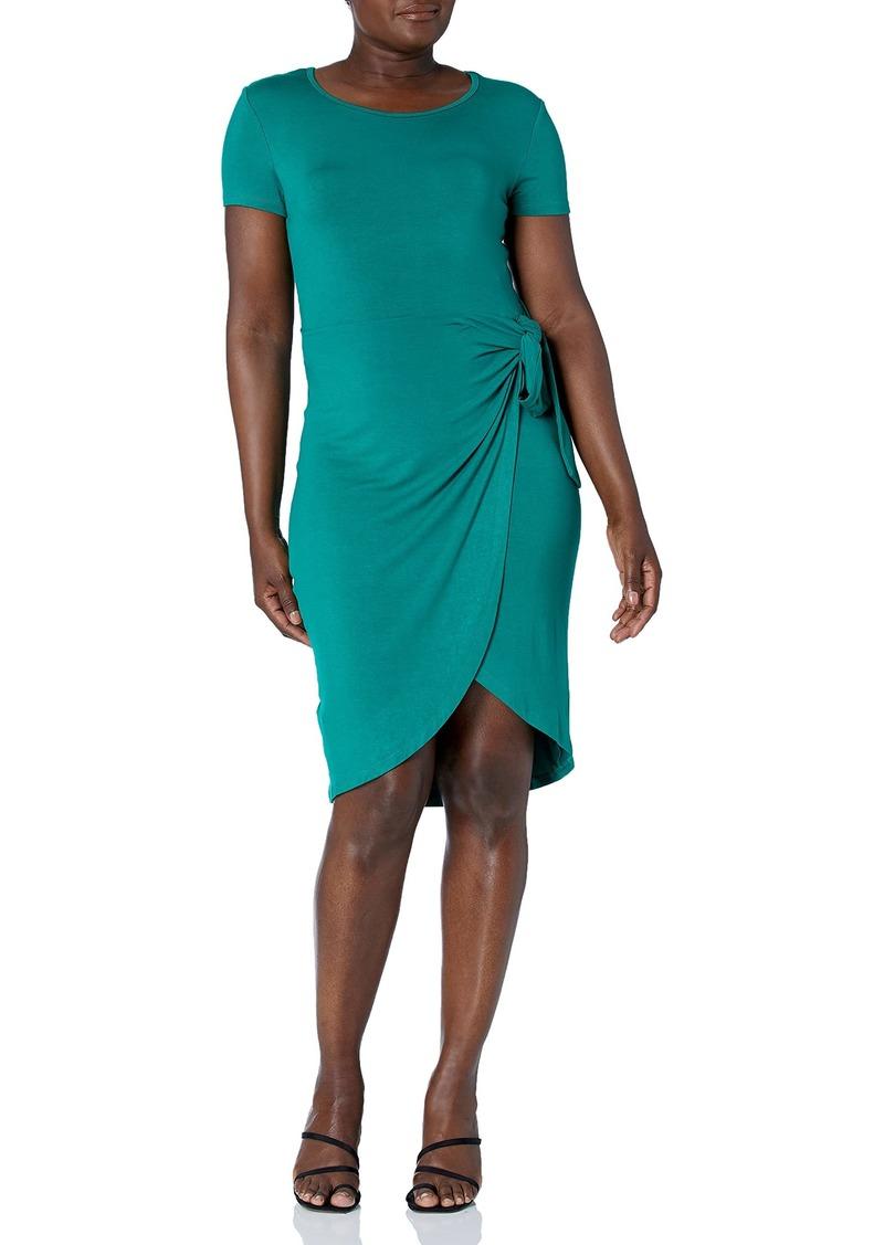 Calvin Klein Women's -Short Sleeve Sheath with Wrap  meadow