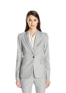 Calvin Klein Women's 1 Button Menswear Jacket